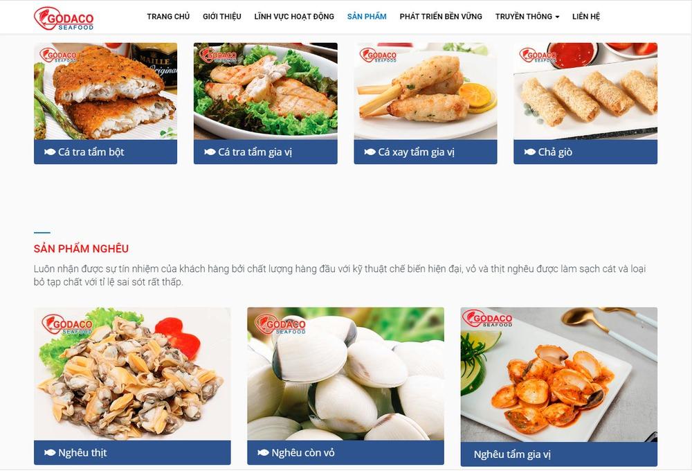 mẫu thiết kế website thủy hải sản nổi bật