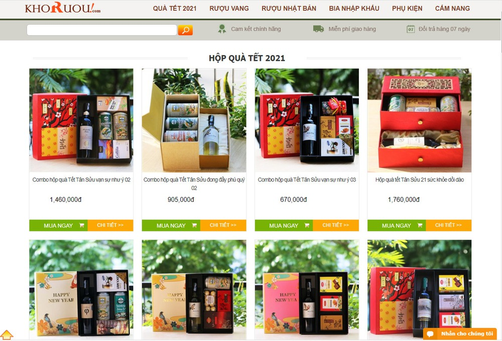 thiết kế website bán rượu chuyên nghiệp