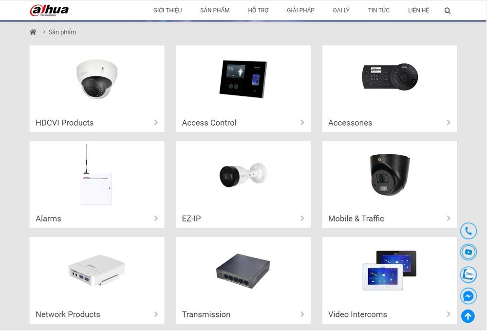 Các chức năng quan trọng khi thiết kế website bán camera