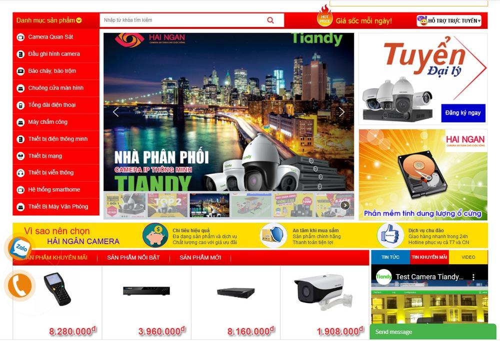 Thiết kế website bán camera ở đâu uy tín