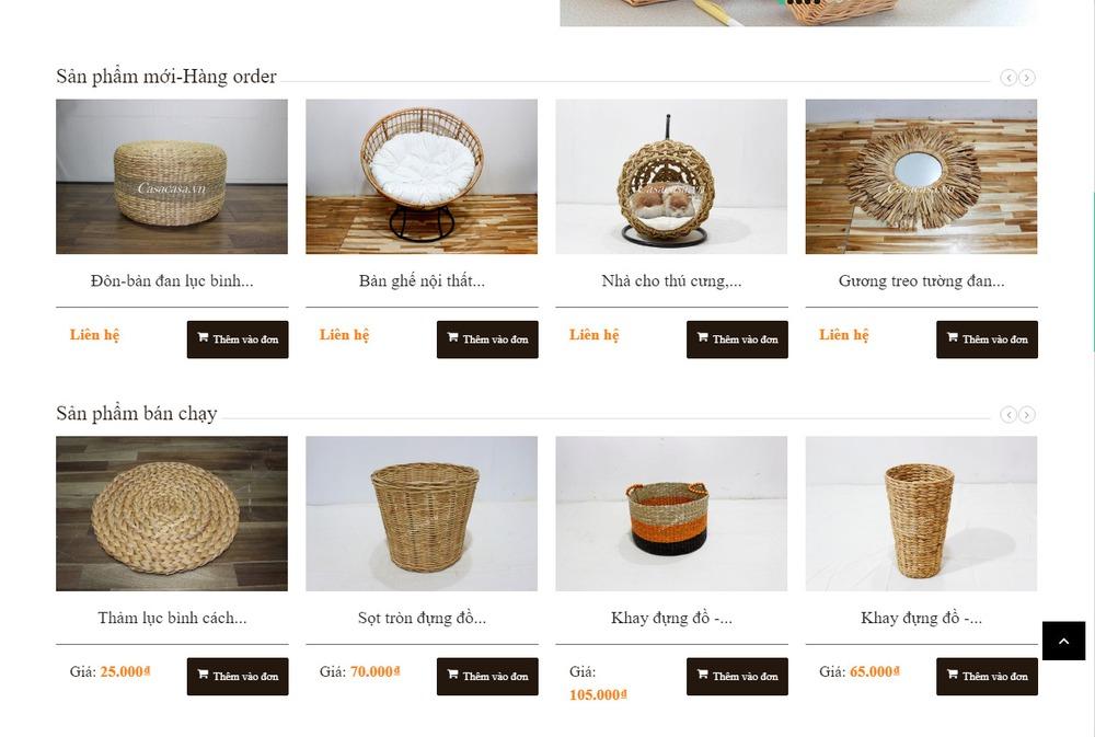Các tính năng quan trọng của website thủ công mỹ nghệ