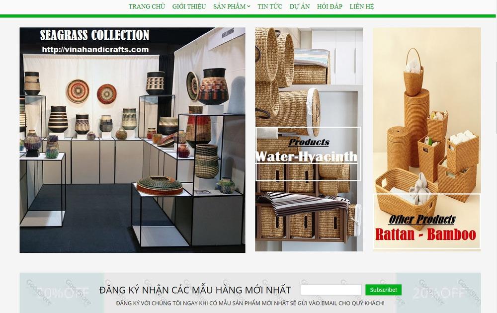 Một số mẫu thiết kế website thủ công mỹ nghệ chuyên nghiệp
