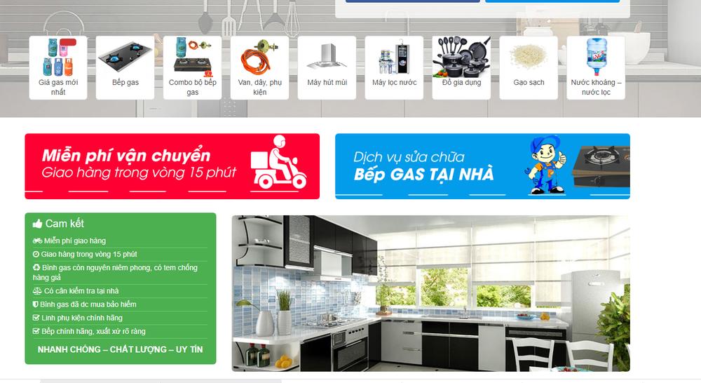 thiết kế website bán ga