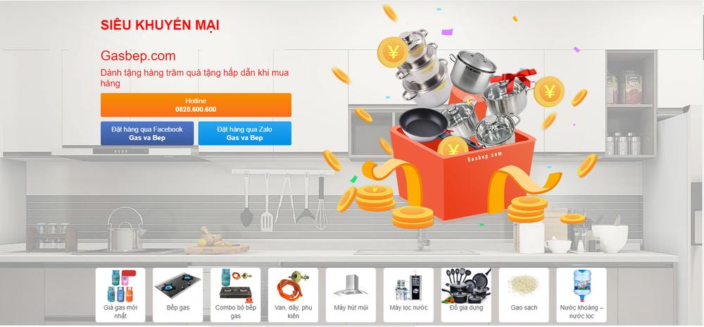 mẫu thiết kế website bán gas nổi bật