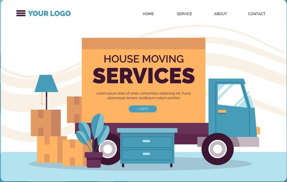 mẫu thiết kế website dịch vụ chuyển nhà ấn tượng