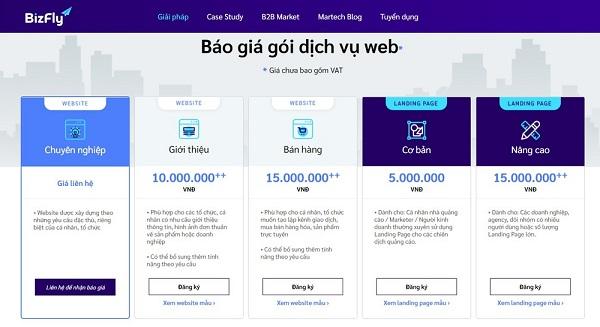 Thiết kế website du lịch tại Bizfly Website bạn nhận được gì