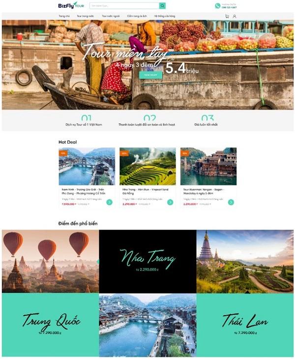 Mẫu thiết kế website du lịch bắt mắt, thu hút nhất hiện nay