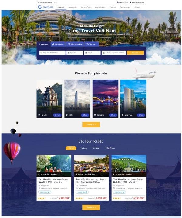 Những mẫu thiết kế website du lịch bắt mắt, thu hút nhất hiện nay