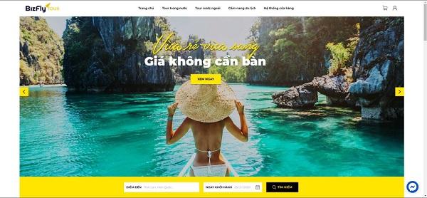 Mẫu thiết kế website du lịch bắt mắt