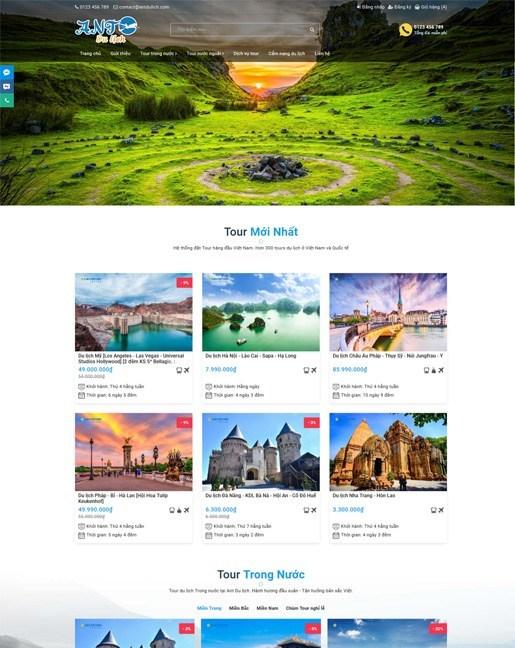 Mẫu thiết kế website du lịch bắt mắt, thu hút nhất