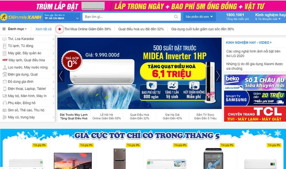 trang web thương mai điện tử