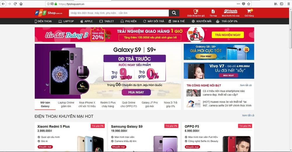 trang web thương mại điện tử hàng đầu