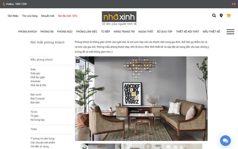 trang web bán đồ nội thất