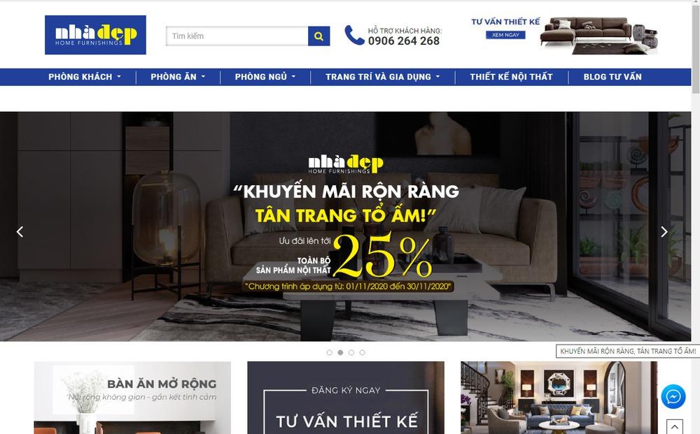 trang web bán đồ nội thất hàng đầu