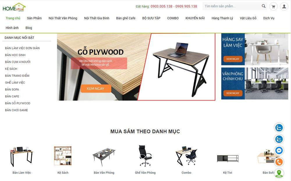 trang web bán nội thất