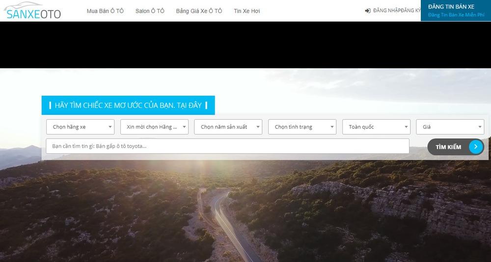 trang web ô tô