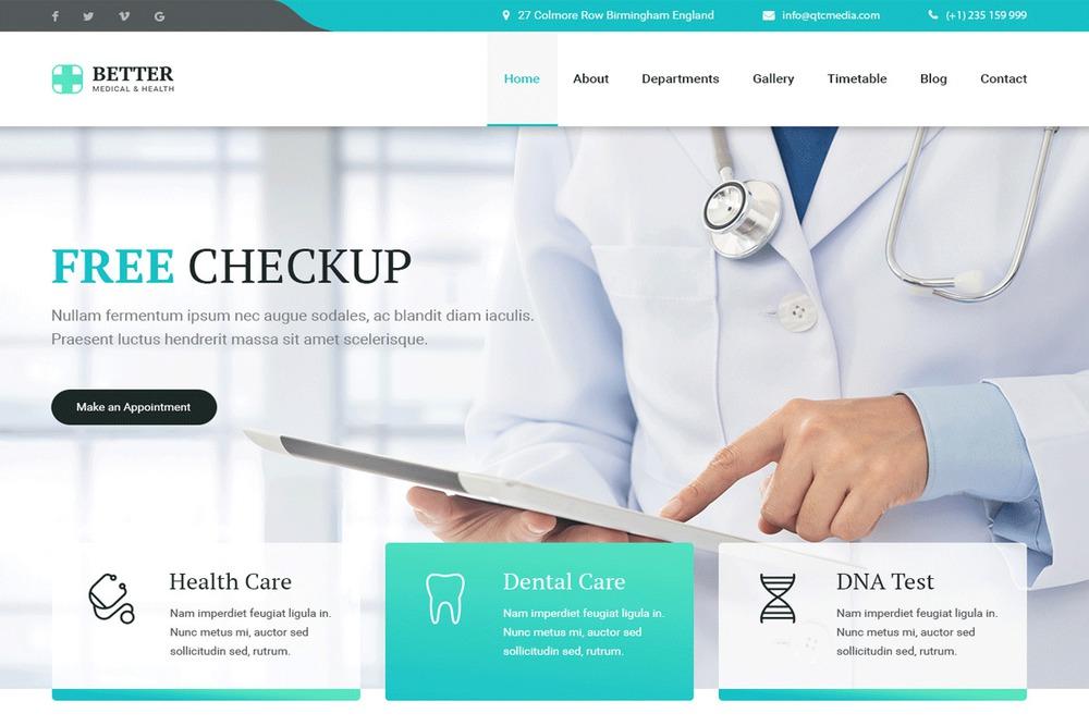 Mẫu thiết kế website bệnh viện, phòng khám y tế Better