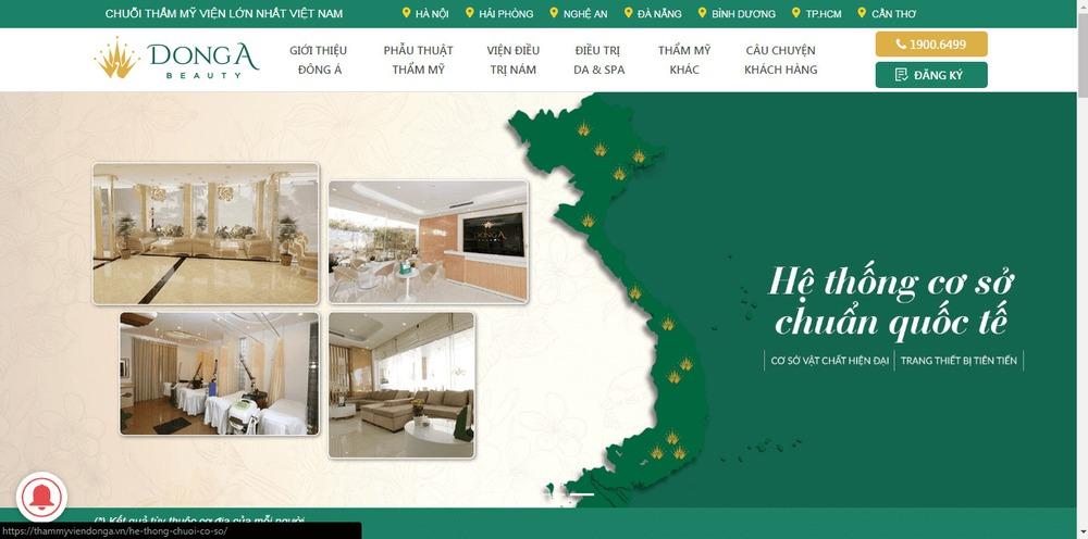 Mẫu thiết kế website bệnh viện, phòng khám chữa bệnh DongA