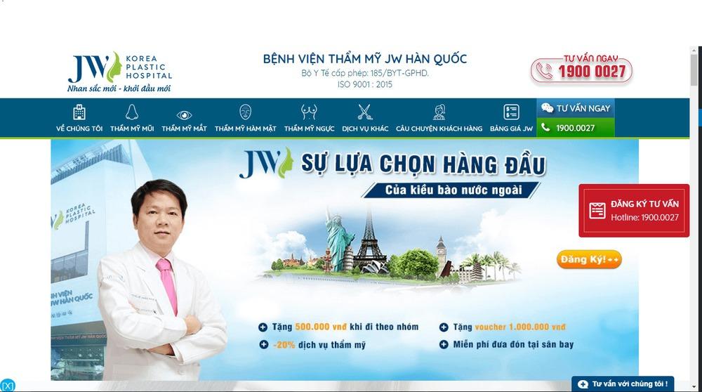 Mẫu thiết kế website bệnh viện, phòng khám y tế