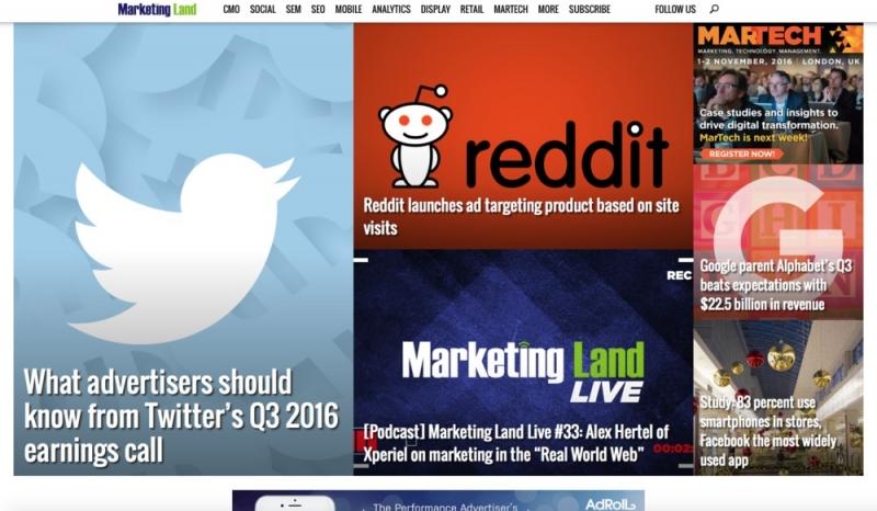 danh sách các trang web về marketing
