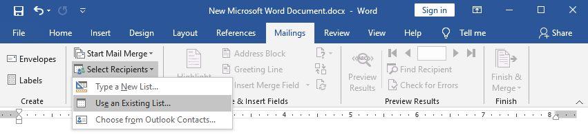cách gửi mail hàng loạt trong outlook