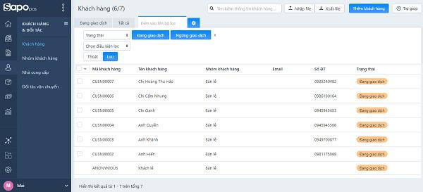Phần mềm quản lý và bán hàng đa kênh Sapo POS