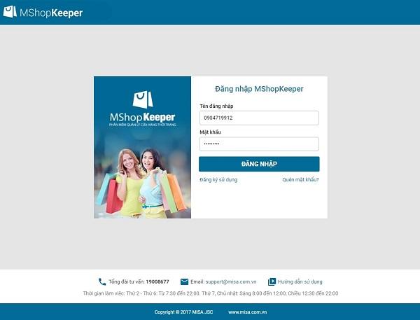 Phần mềm quản lý bán hàng thời trang MShopKeeper