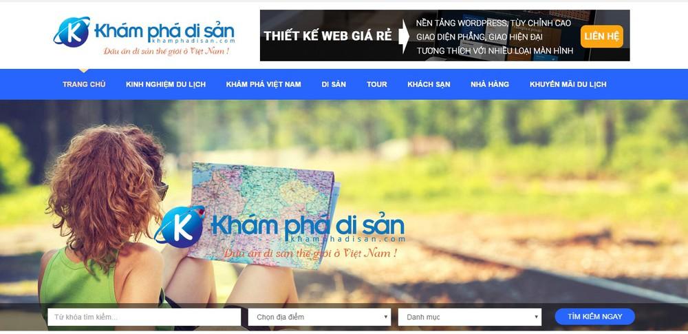 trang web du lịch