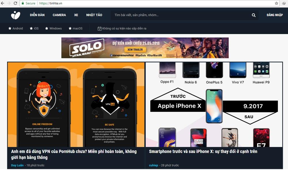 trang web công nghệ thông tin
