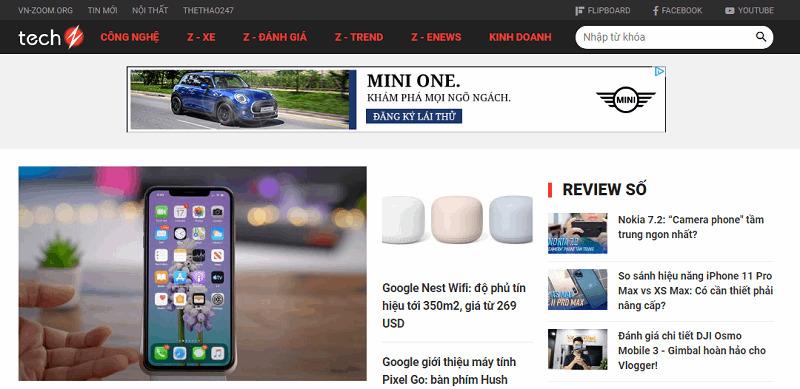 các trang web công nghệ nổi tiếng