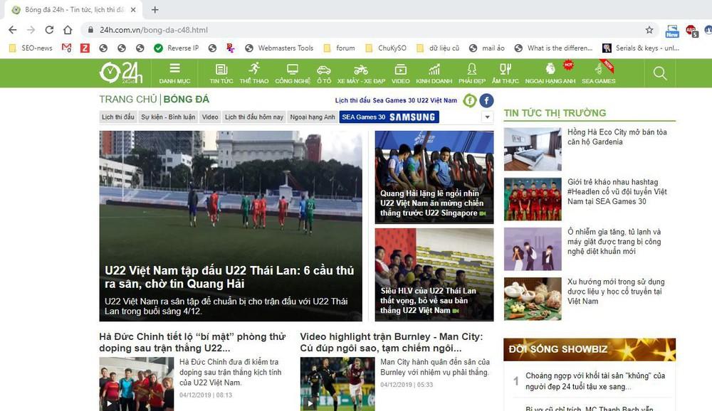 trang web bóng đá