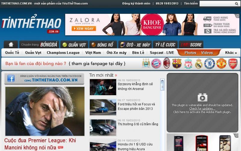 trang web bóng đá việt nam