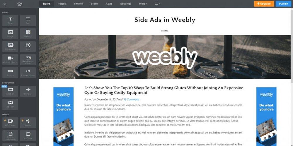 Thiết kế web miễn phí với Weebly