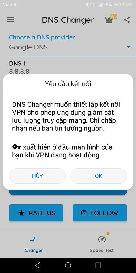 Các cách vào web bị chặn trên điện thoại