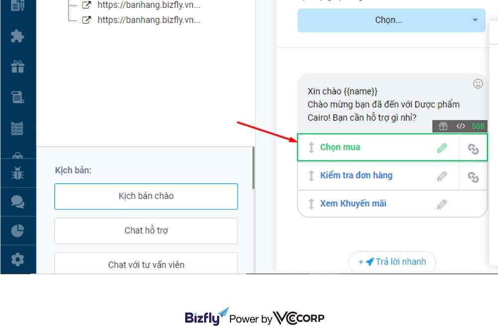 chốt đơn online trên chatbot