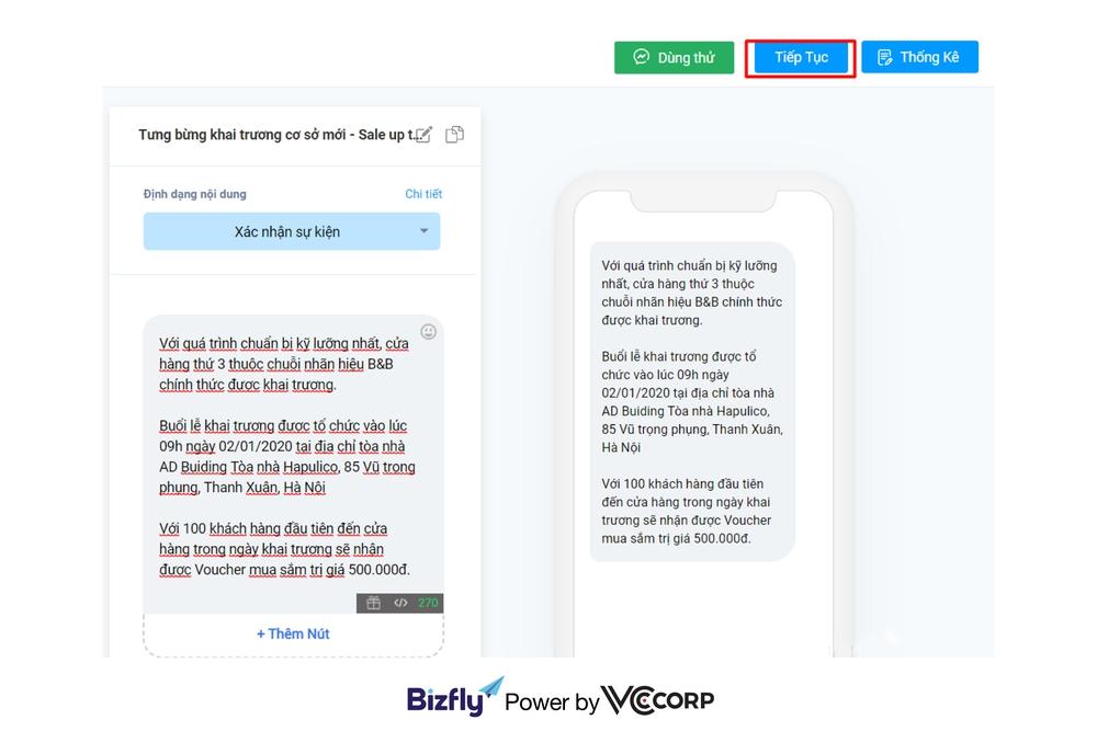 Gửi tin nhắn hàng loạt cho khách hàng cũ sau 24 giờ