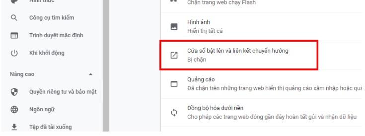 Cách chặn trang web tự mở trên Chrome