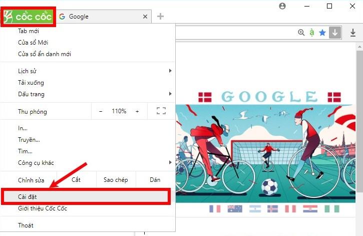 Cách chặn trang web tự mở trên Cốc Cốc