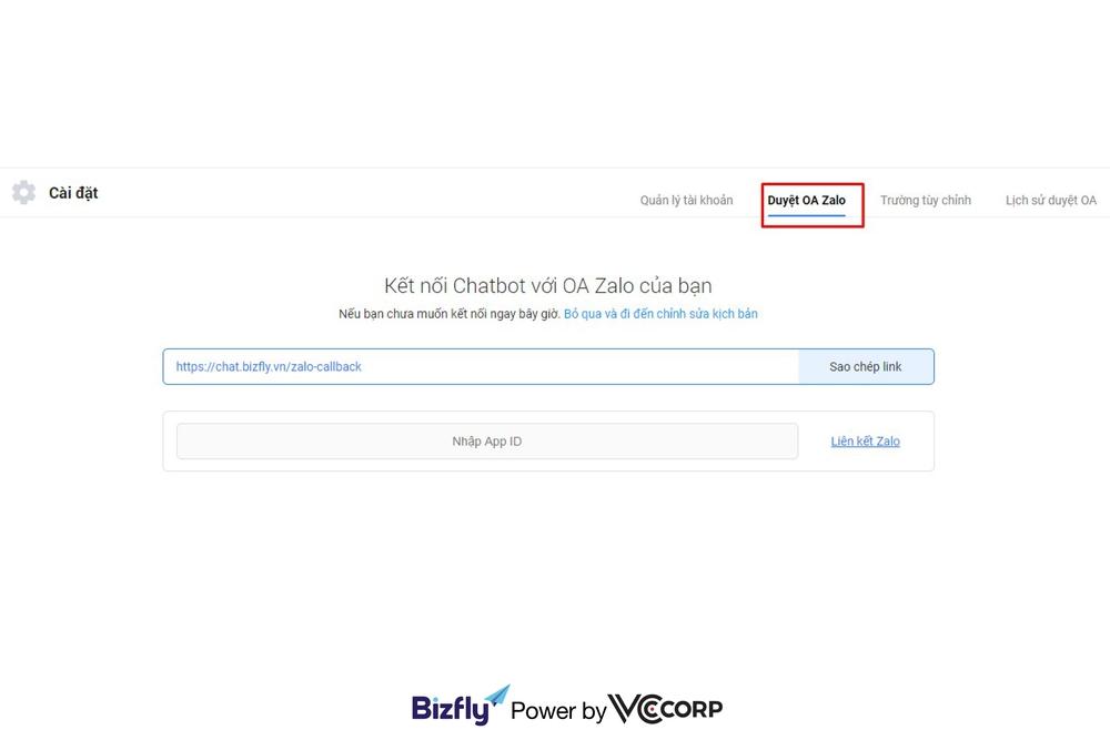 Kết nối chatbot và zalo để bán hàng