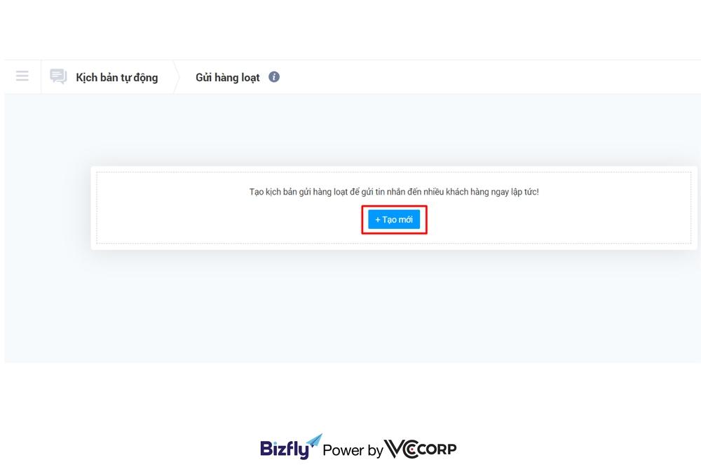 tính năng gửi hàng loạt của chatbot giáo dục