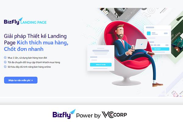 Thiết kế landing page của Bizfly