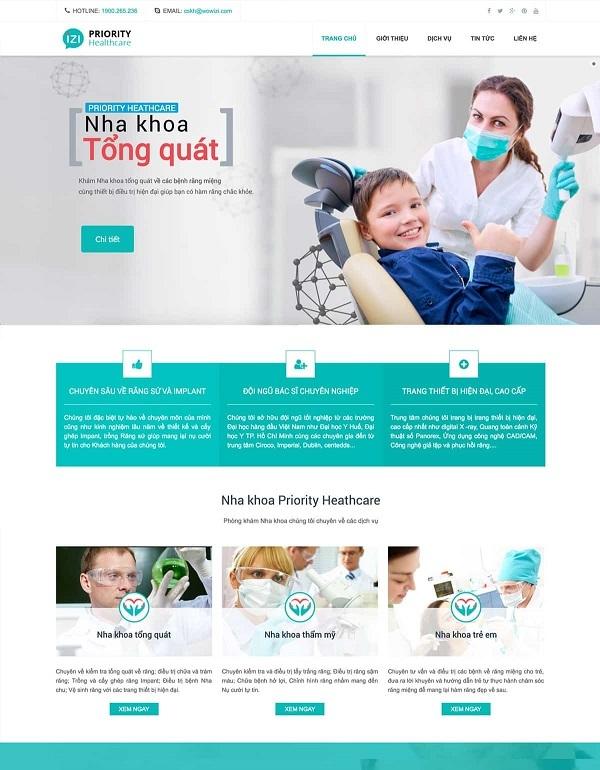thiết kế website nha khoa