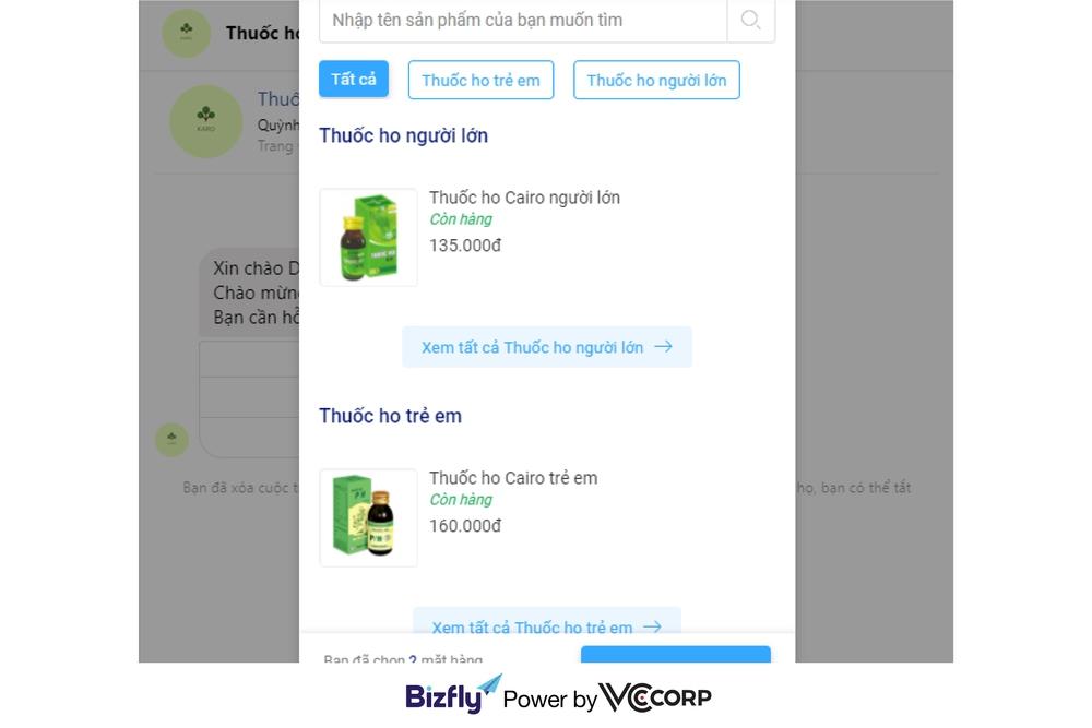 Tạo đơn tự động trên chatbot