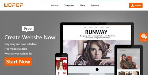 Thiết kế web miễn phí với Wopop